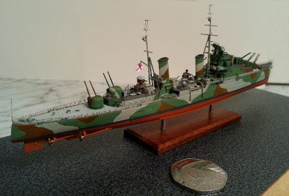 1:700 HMS Naiad from Flyhawk kit